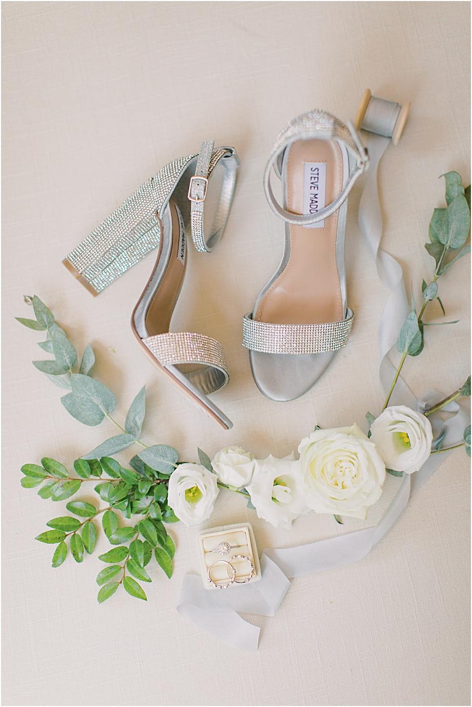 bridal wedding shoes | Hotel Du Village Wedding