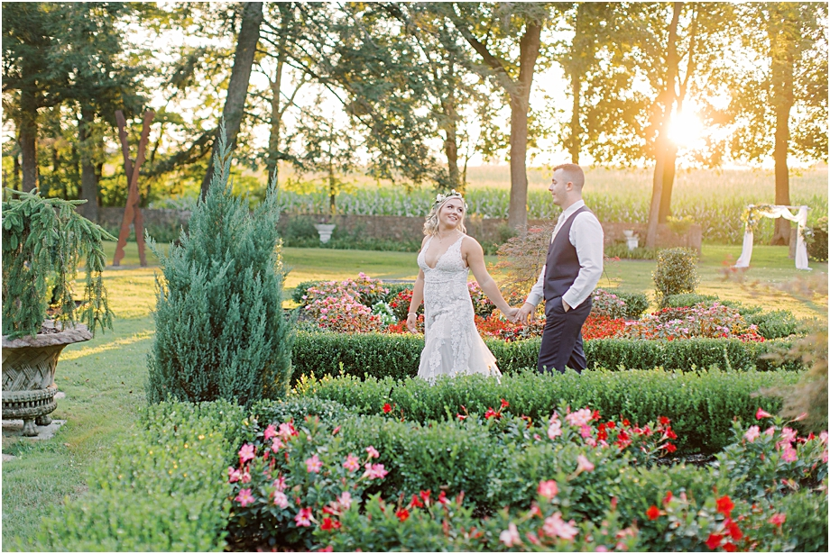 sunset wedding portraits | hotel du village wedding
