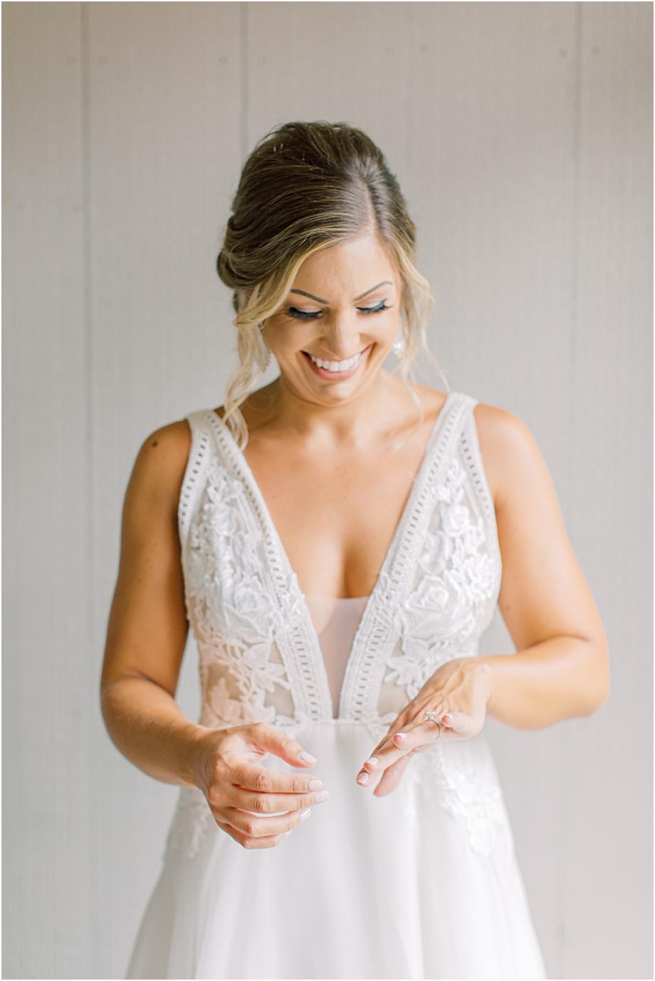 bride getting ready | John James Audubon Center Wedding