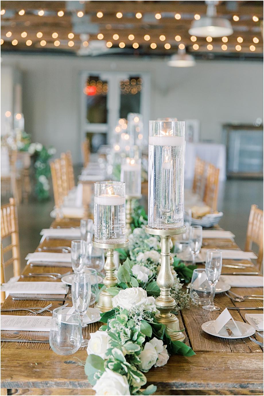 farm tables wedding | John James Audubon Center Wedding