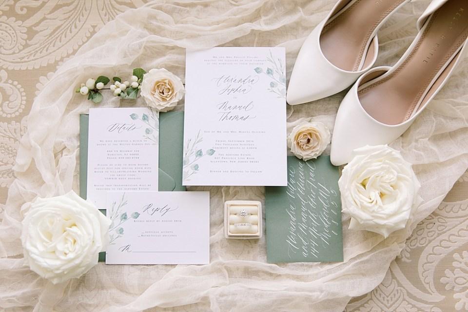 Barely Blush Ink Wedding Invitations | Ashford Estate Wedding Photography | Sarah Canning Photography