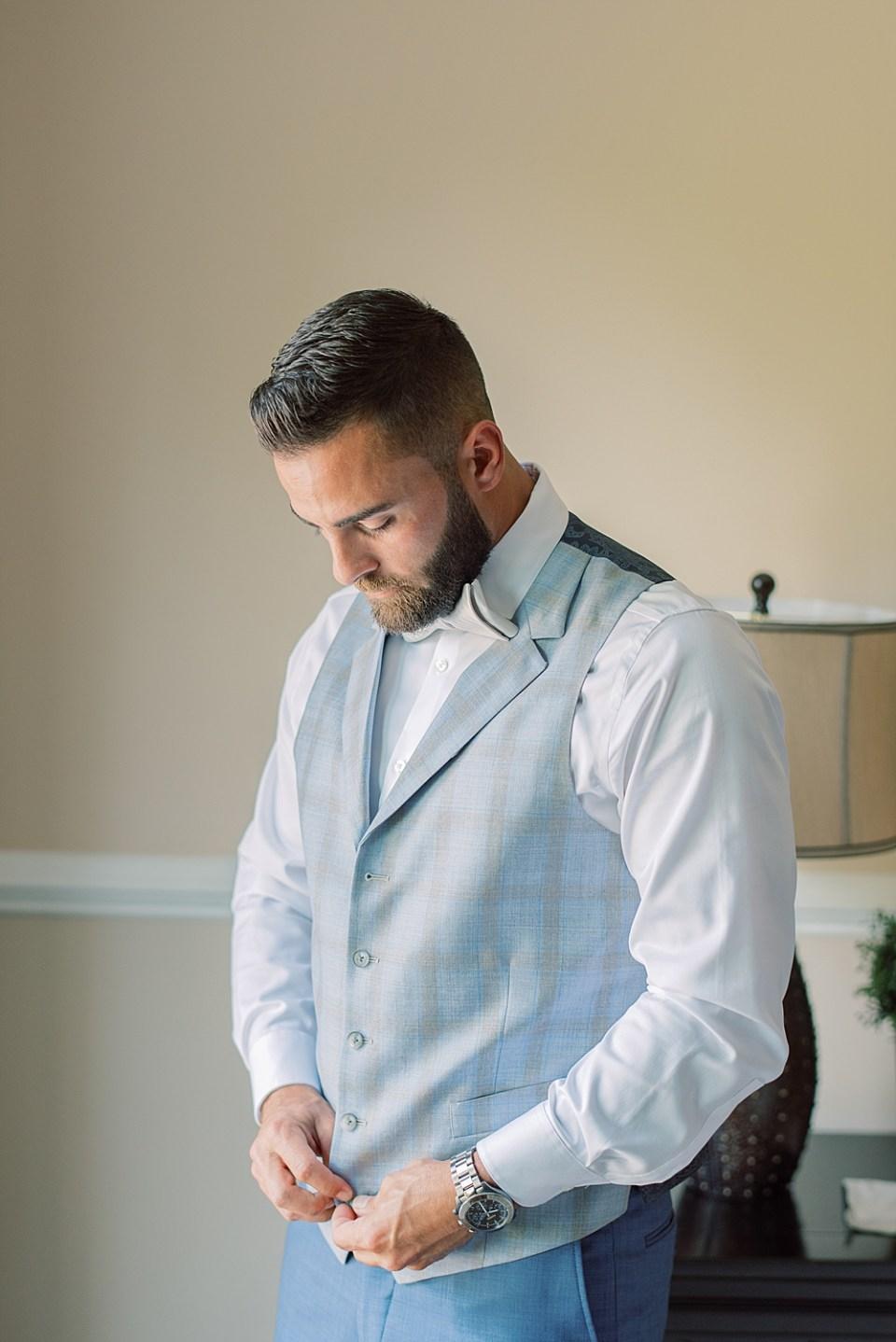custom blue suit | ashford estate wedding | Sarah Canning Photography