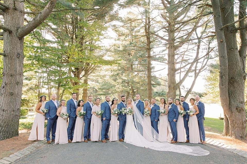 tan and blue wedding colors | ashford estate wedding | new jersey wedding photographer Sarah Canning