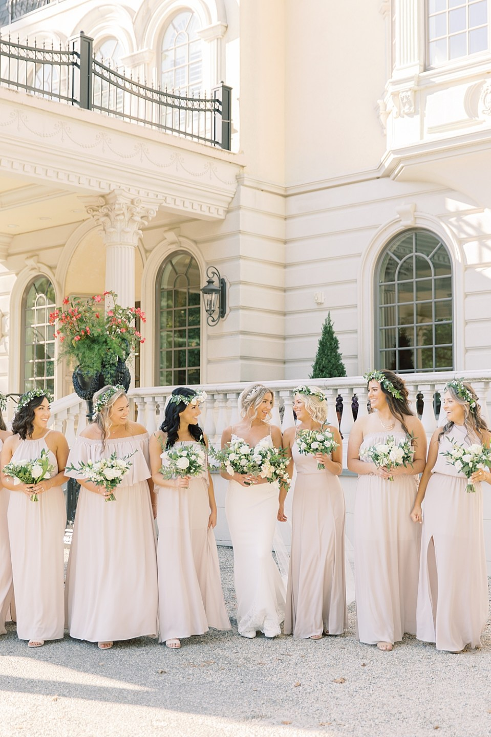 Ashford Estate Wedding Photography | Bride with Bridesmaids | Sarah Canning Photography