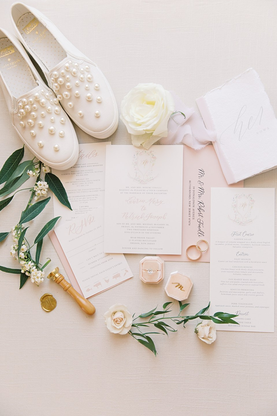 Lace and Belle invitation suite | New Jersey Wedding Photographer Sarah Canning