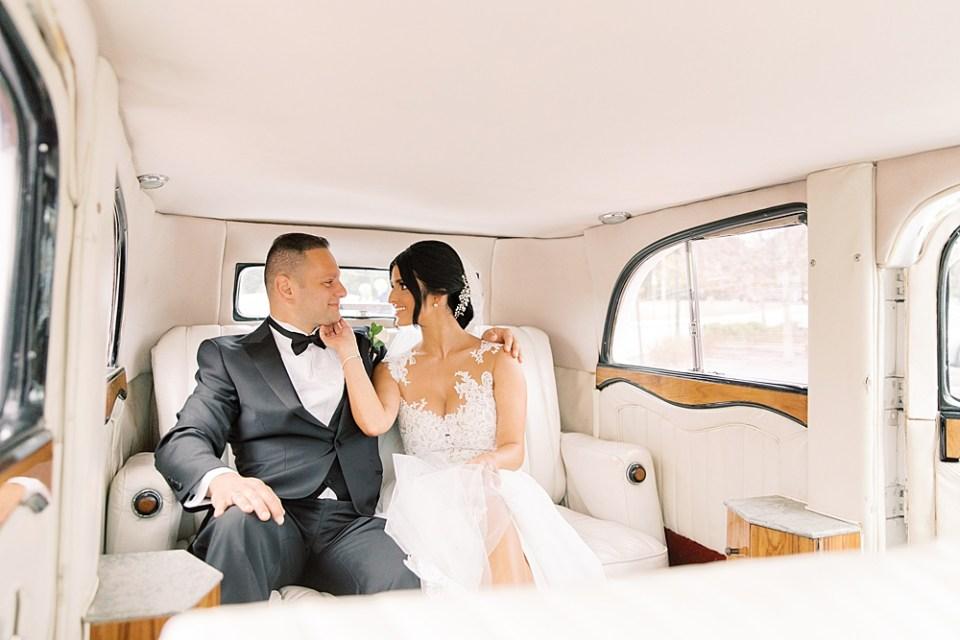 rolls royce wedding getaway car | sarah canning photography