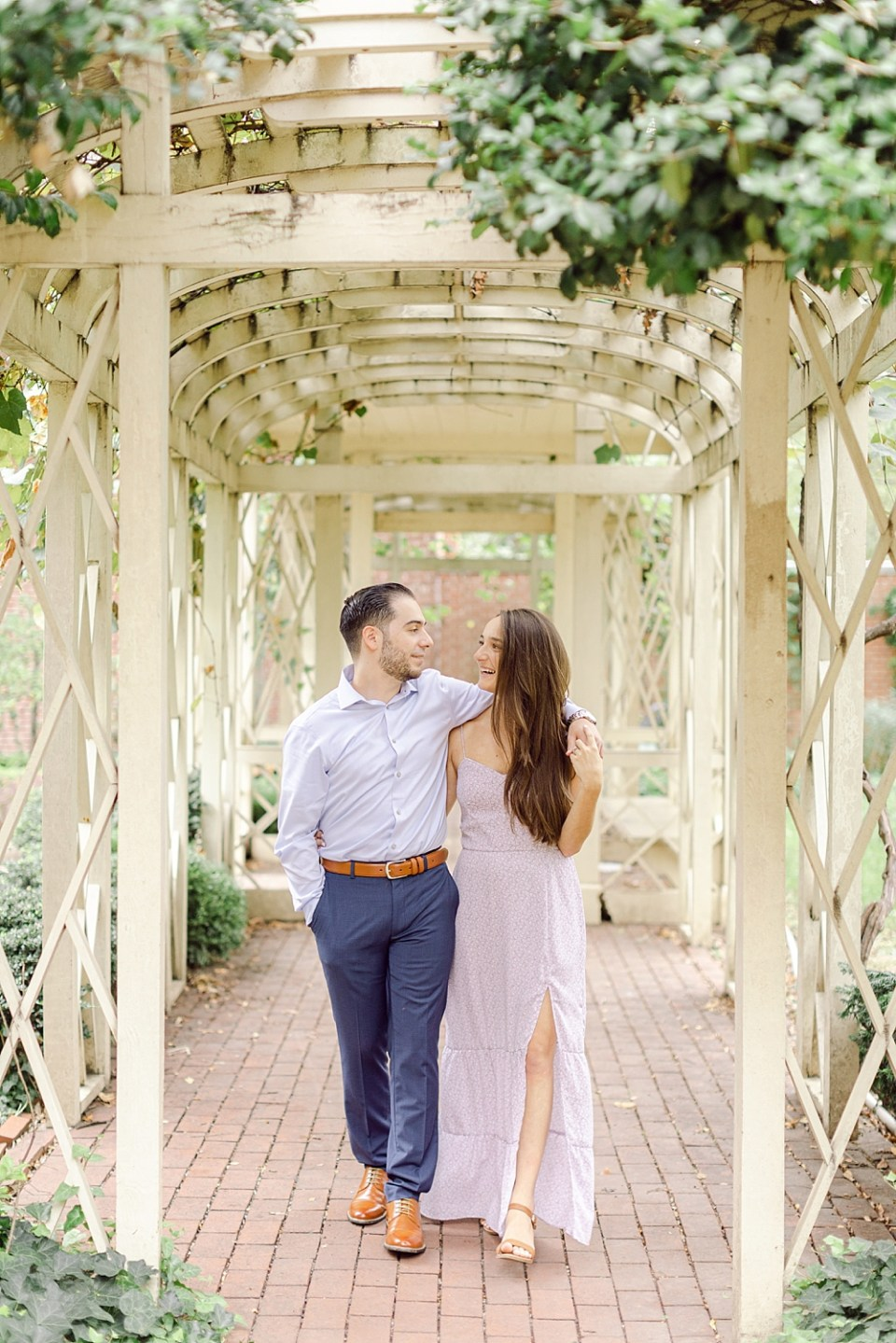 Engagement Photos in Old City Philadelphia at 18th Century Garden