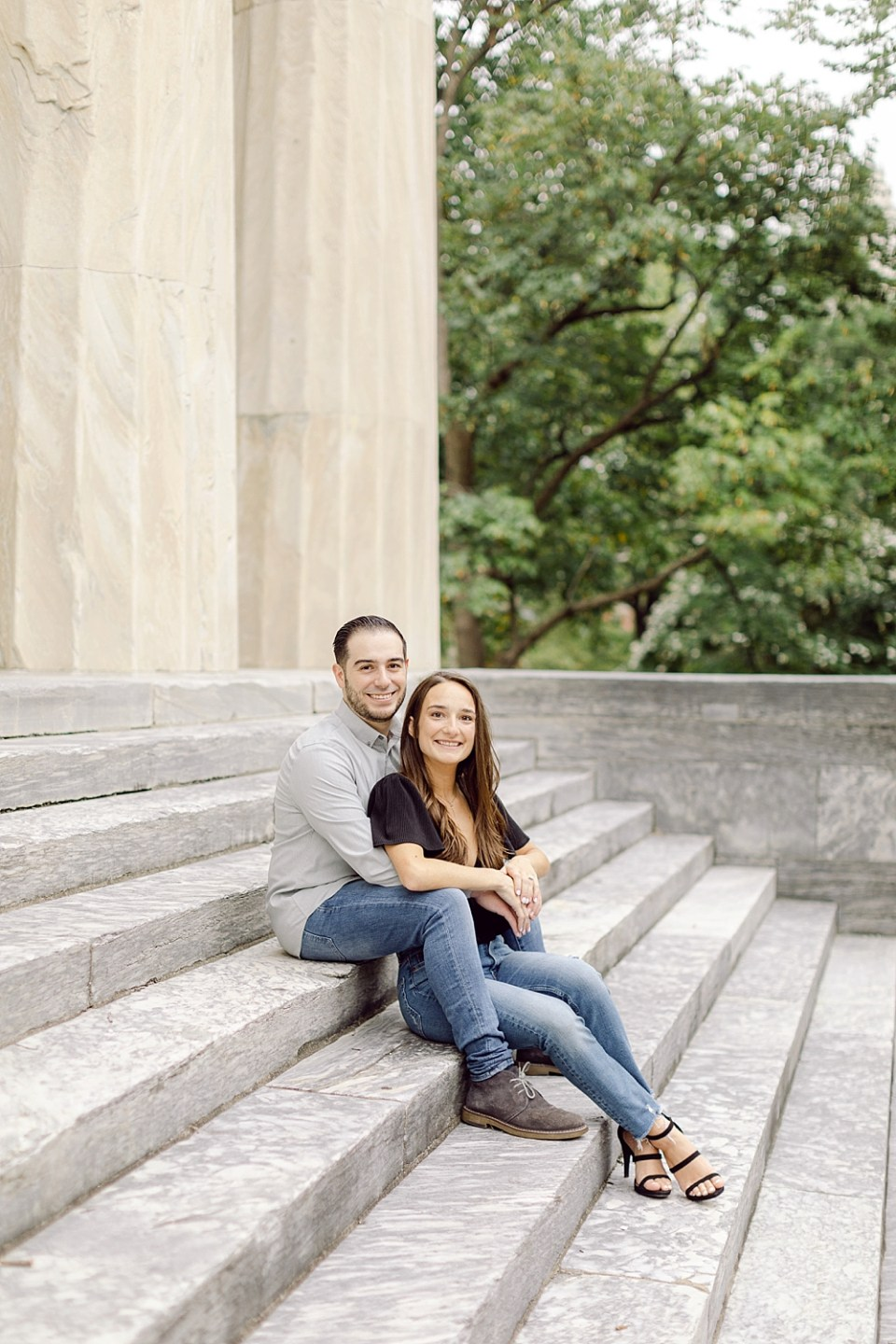 Engagement Photos in Old City Philadelphia at 2nd Bank