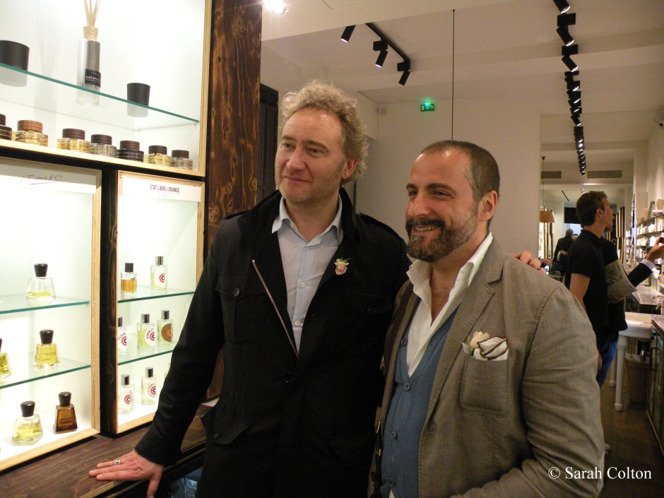 Antoine Lie, perfumer (Takasago) and creator of several fragrances for Etat Libre d'Orange, and Antonio Alessandria of Boudoir 36, ITALY