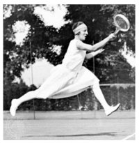 3. Suzanne Lenglan in tennis dress