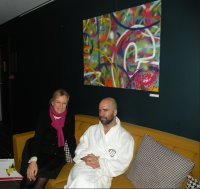 5. Abraham and Cassandra at Molitor Spa