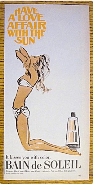 Bain de Soleil Vintage ad