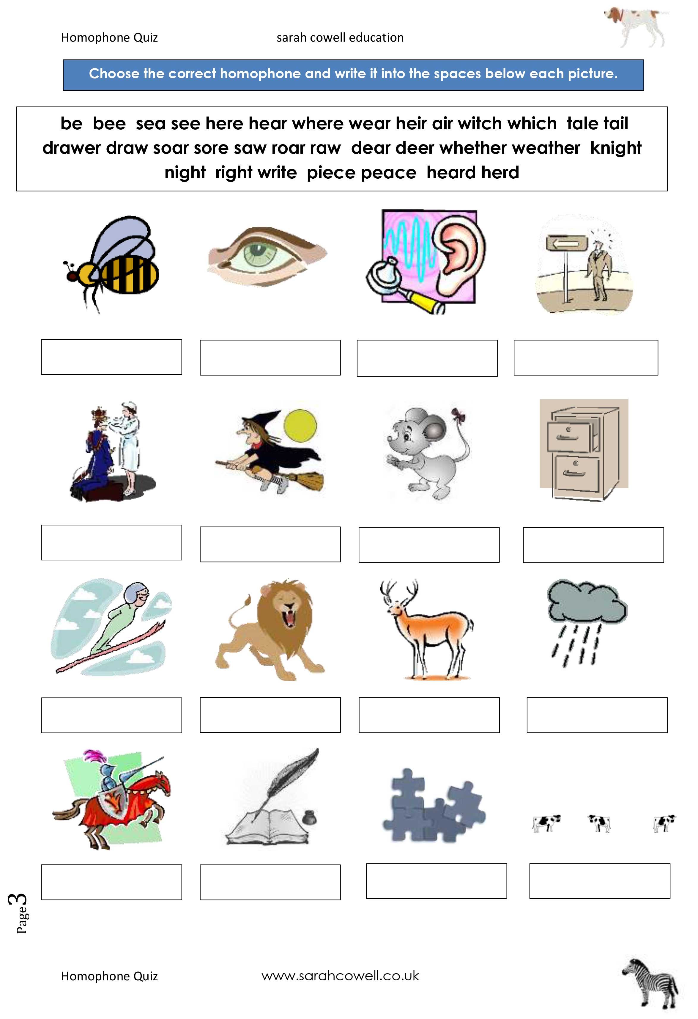 Free Downloadable Worksheets Dyslexia
