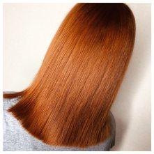 Bright copper hair