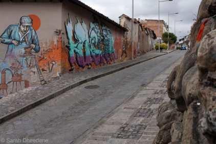 Street art in Cuenca.