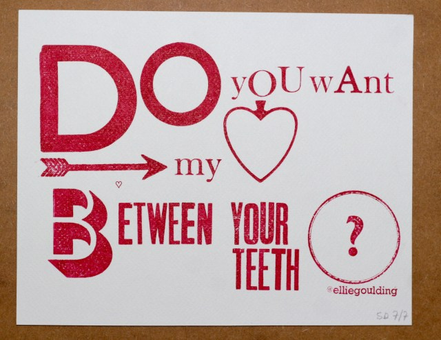 Do You Want My Heart Between Your Teeth