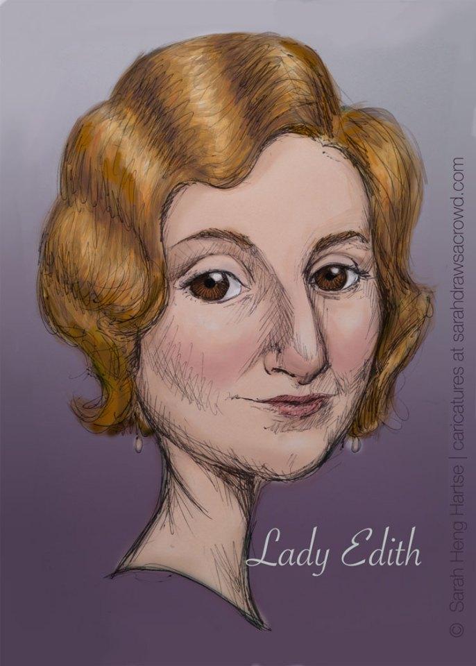 Downton Abbey's Edith Crawley, played by Laura Carmichael