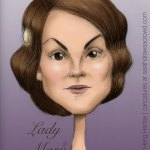 Downton Abbey's Lady Mary Crawley, played by Mary Dockery