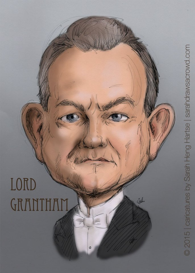 Downton Abbey's Lord Grantham Robert Crawley, played by Hugh Bonneville
