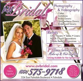 AV Bridal three-quarter page ad