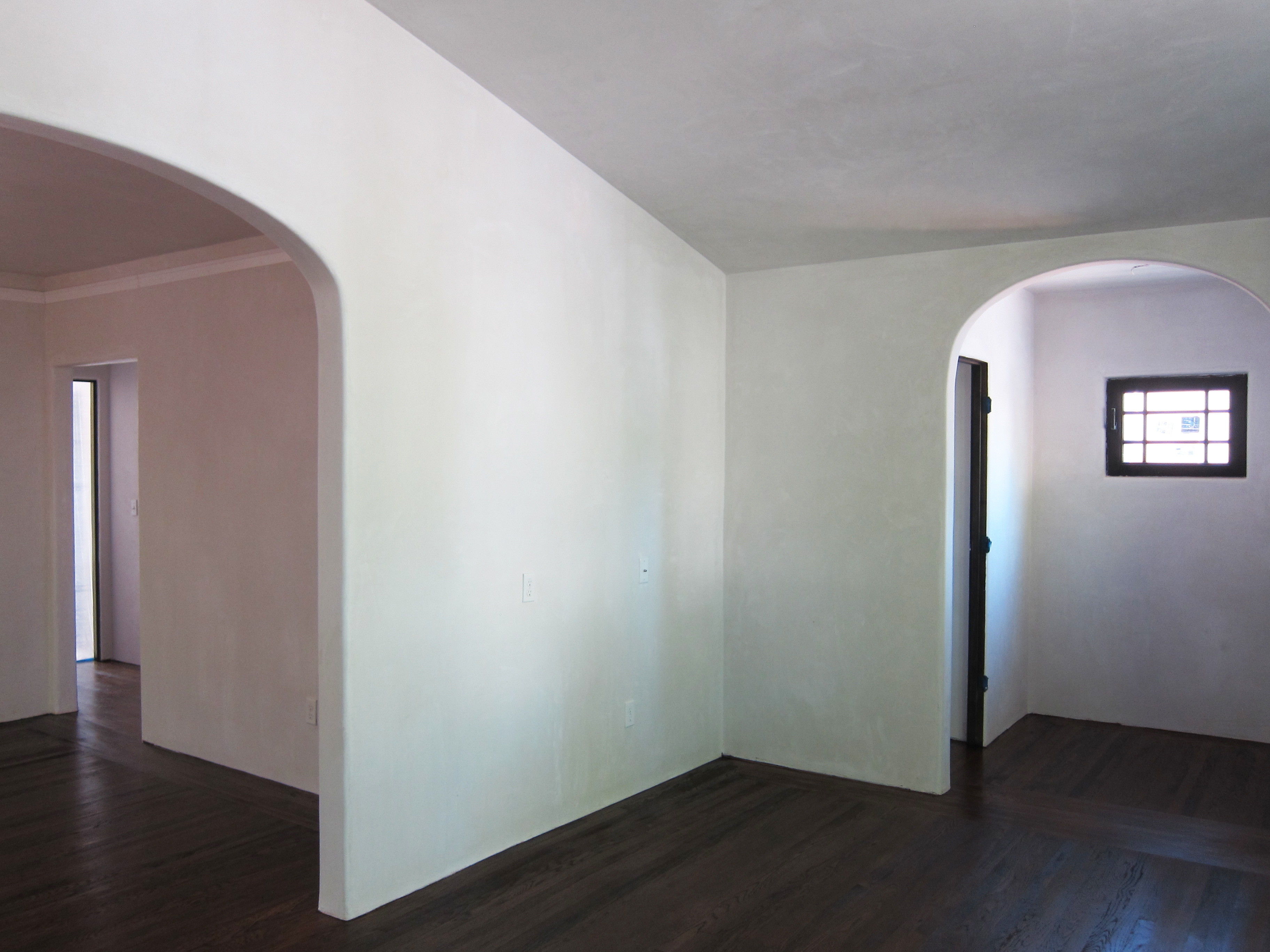 Smooth Venetian Plaster In White Dove Before The Furniture