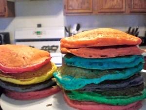 rainbow pancakes