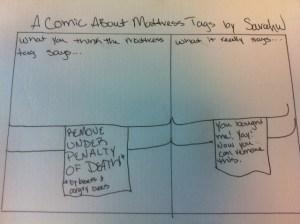 Comic about Mattress Tags