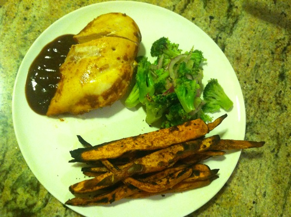 Baked Sweet Potato Fries with All Spice