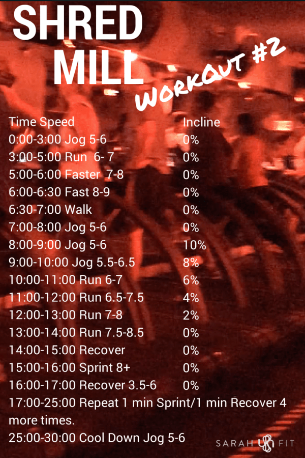 Barrys Bootcamp Treadmill Workout