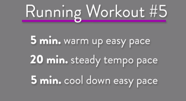 Running Workout Treadmill tempo Run