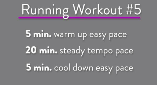 Running Workout Treadmill tempo Run