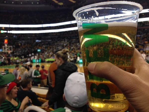 Celtics game beer