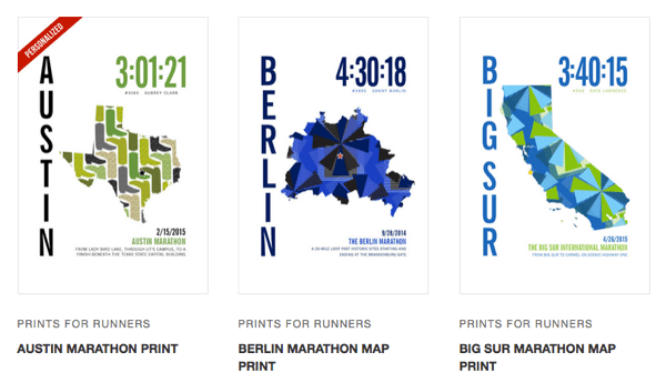 Giveaway: Personalized Marathon Race Day Prints