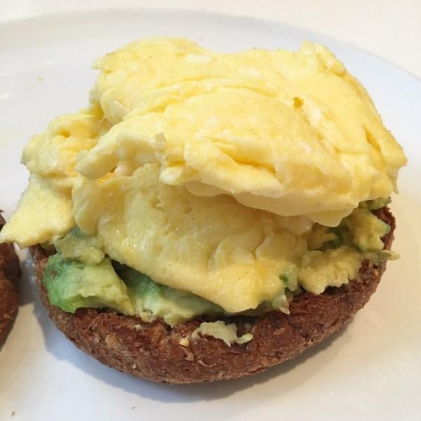 egg avocado ezekial english muffin