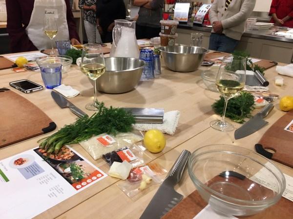 Cooking at Sur La Table