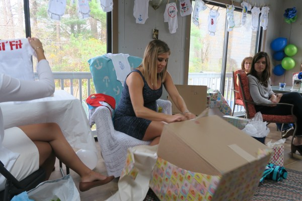Opening Gifts at Baby Shower