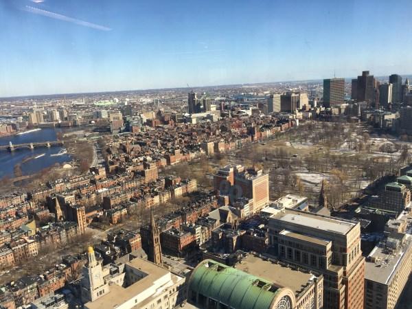 Boston skyline winter