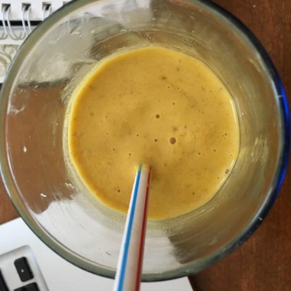 Smoothie Tumeric Mango Banana Oats Tahini