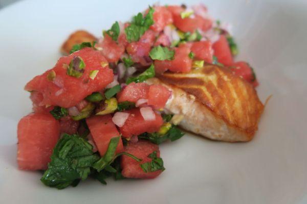 salmon salsa watermelon