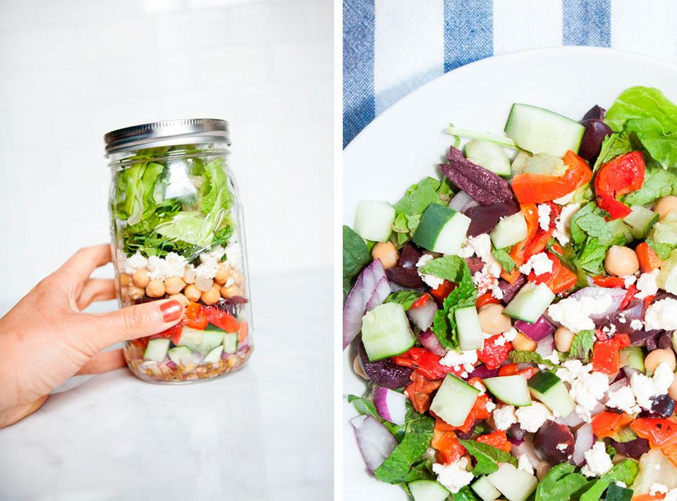 Chopped Greek Salad for the Beach