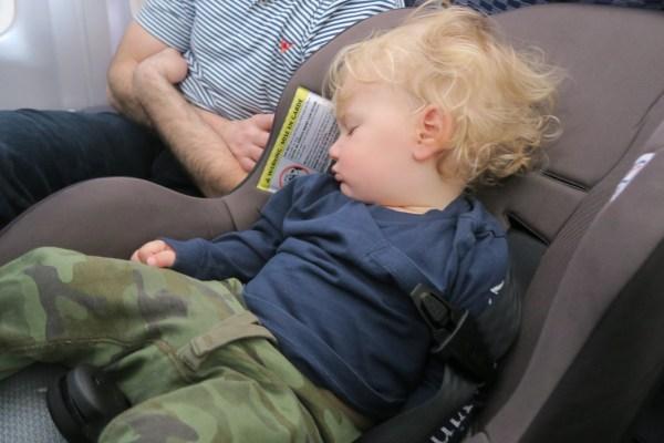 Tommy Sleep on Plane