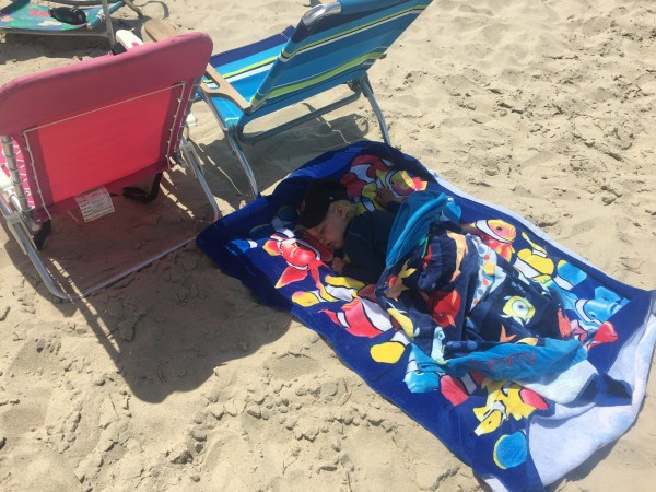 Sleeping Beach Baby