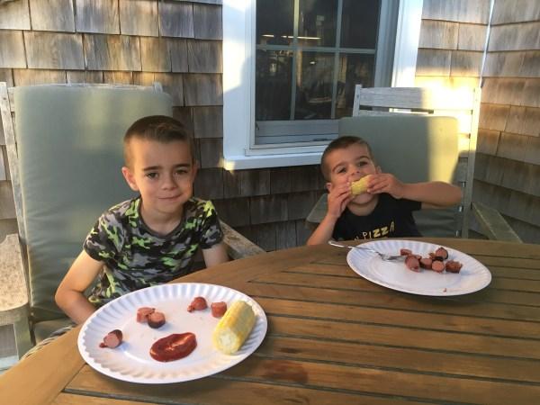 Kids Eating Corn!