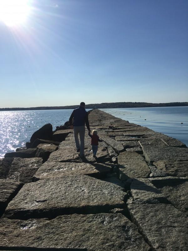 Breakwater in Rockland Maine