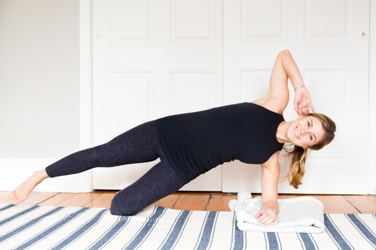 pregnancy workout modifications side plank