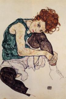 egon-schiele-seated-woman-with-bent-knee-1917
