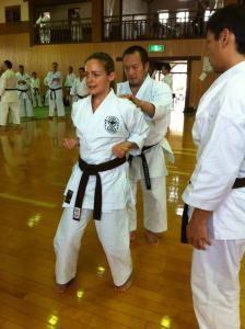 Fujiwara Shihan tests my Sanchin kata