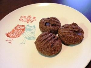 choc ginger hazelnut biscuits