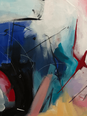 Here is color value in the painting Morning in Alphabet City Manhattan New York contemporary abstract fine art painting by Sarah Gilbert Fox