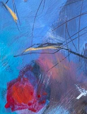 Morning in Riverside Park Manhattan New York contemporary abstract fine art painting by Sarah Gilbert Fox detail 1
